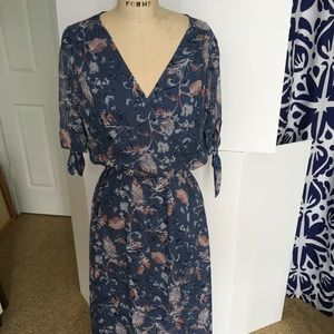 Ella Moss silk dress with tulip hem